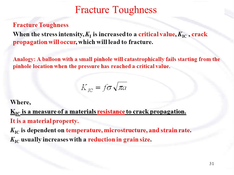 Fracture Toughness Fracture Toughness