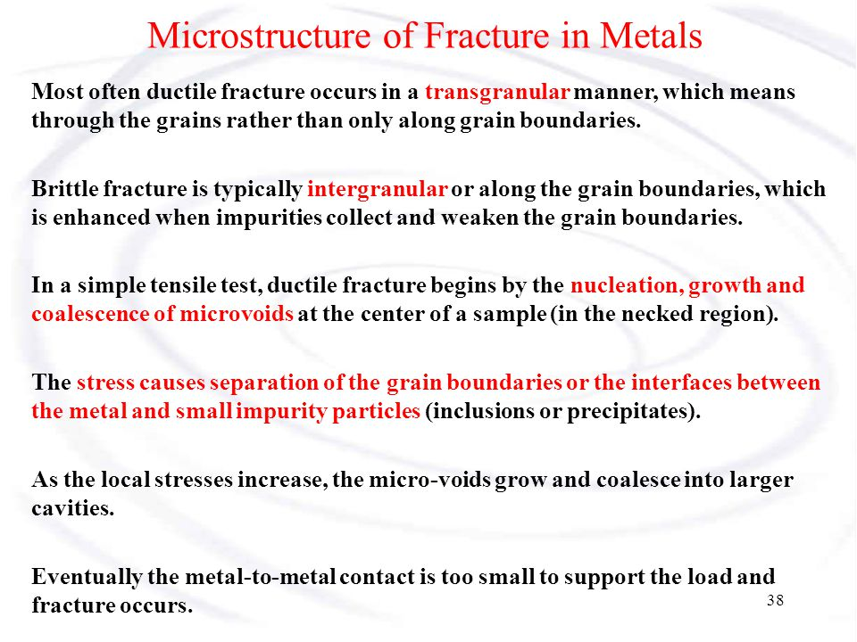 Microstructure of Fracture in Metals
