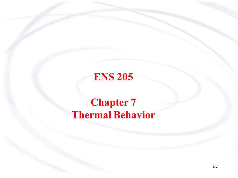 ENS 205 Chapter 7 Thermal Behavior