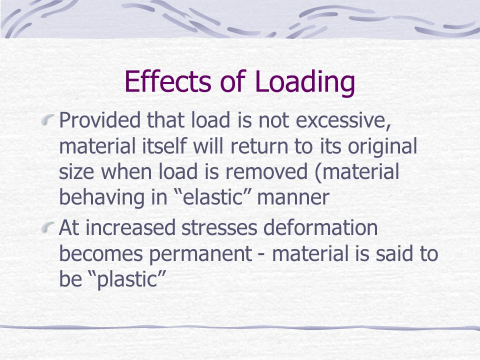 Effects of Loading