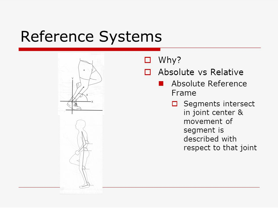 Reference Systems Why Absolute vs Relative Absolute Reference Frame