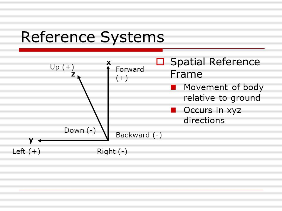Reference Systems Spatial Reference Frame