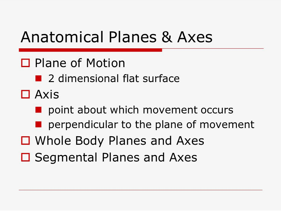 Anatomical Planes & Axes