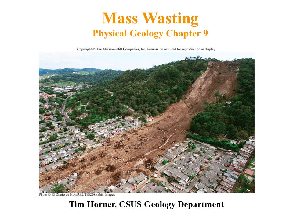 Mass Wasting Physical Geology Chapter 9
