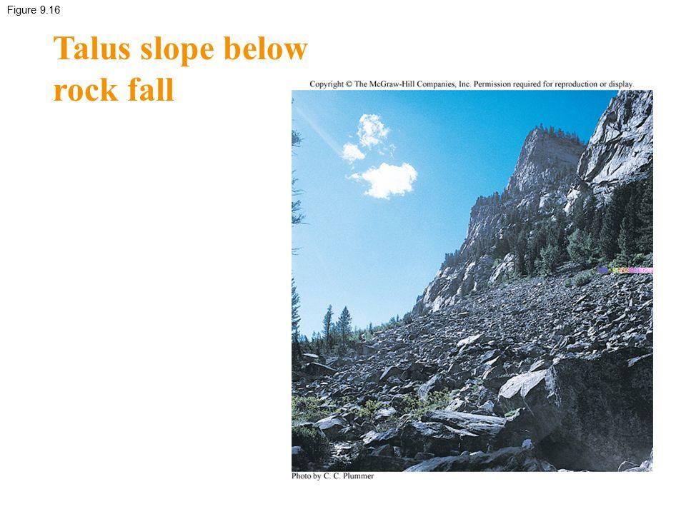 Talus slope below rock fall