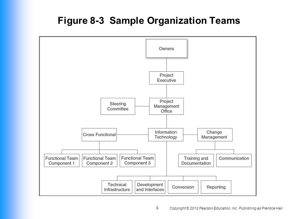 Figure 8-3 Sample Organization Teams