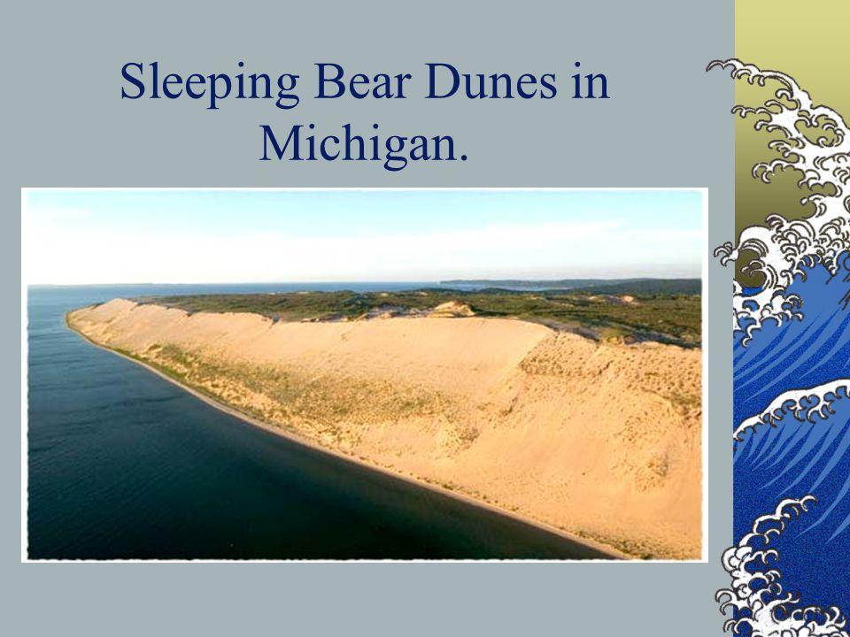 Sleeping Bear Dunes in Michigan.