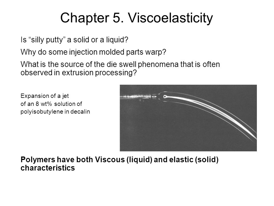 Chapter 5. Viscoelasticity