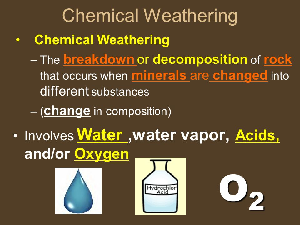 O2 Chemical Weathering Chemical Weathering