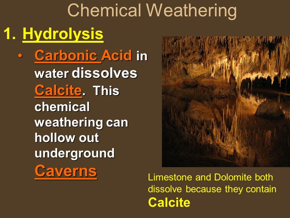 Chemical Weathering Hydrolysis