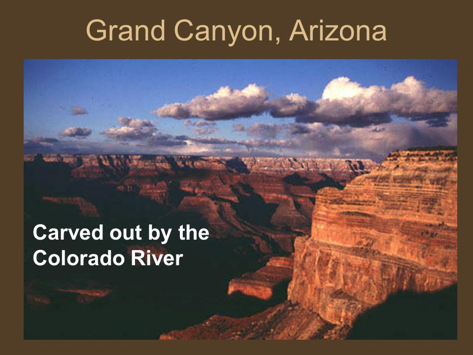 Grand Canyon, Arizona Carved out by the Colorado River