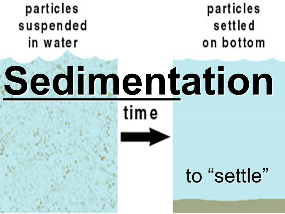 Sedimentation to settle