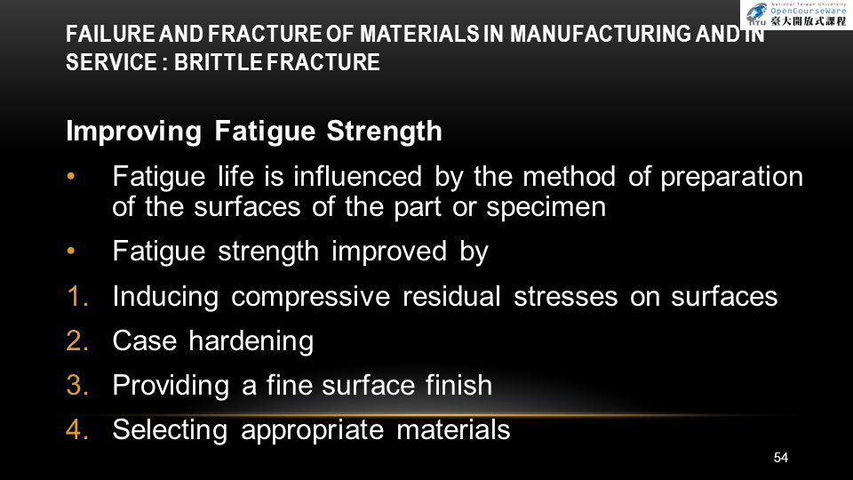 Improving Fatigue Strength