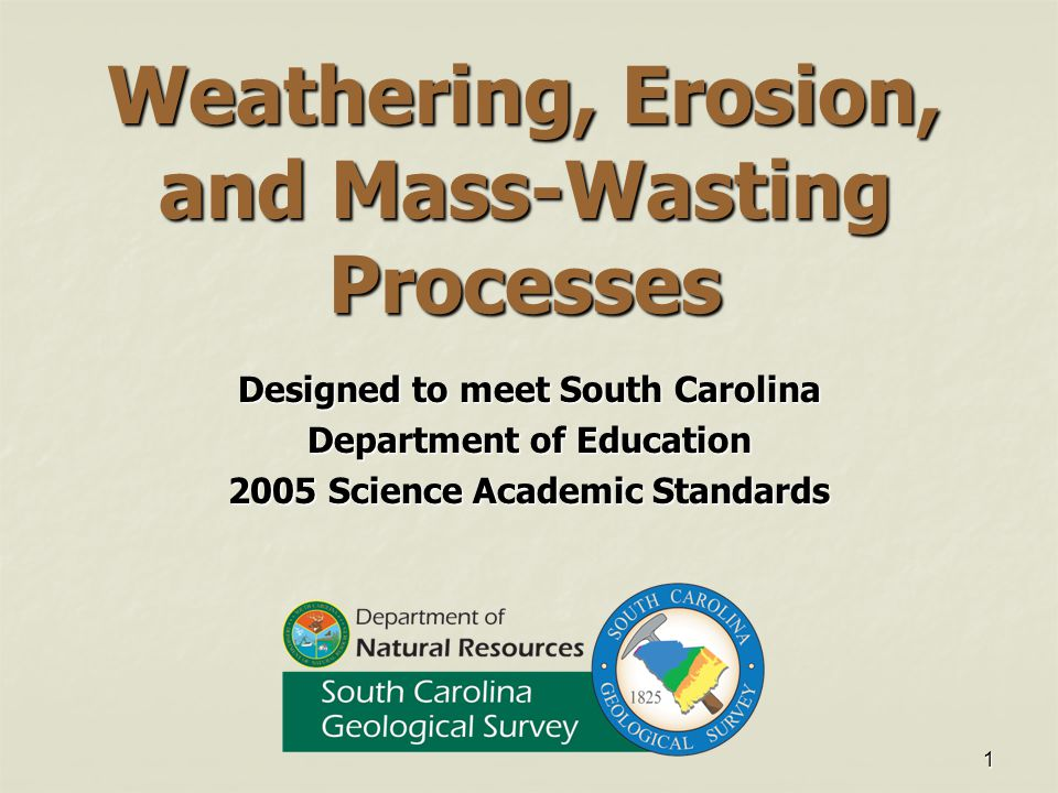 Weathering, Erosion, and Mass-Wasting Processes