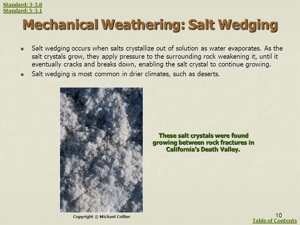 Mechanical Weathering: Salt Wedging