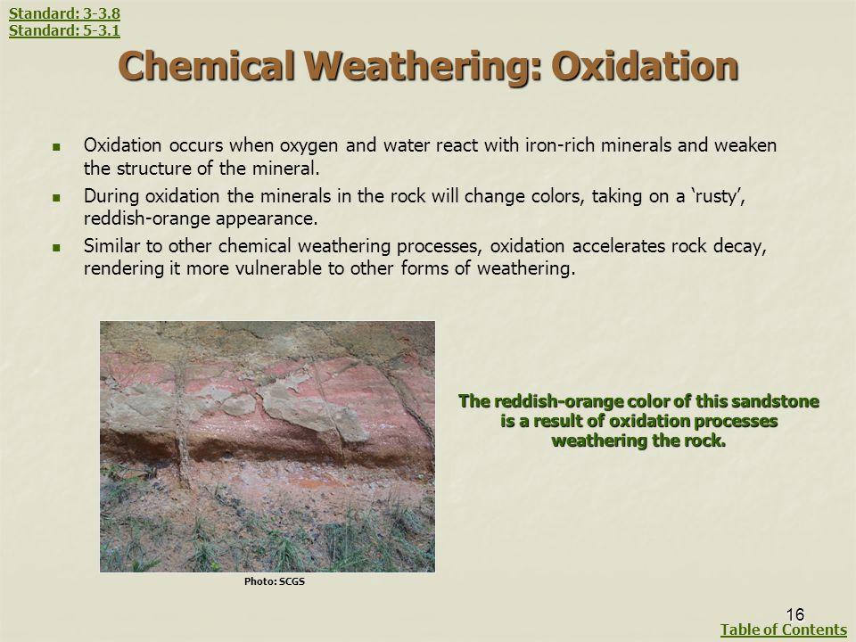 Chemical Weathering: Oxidation