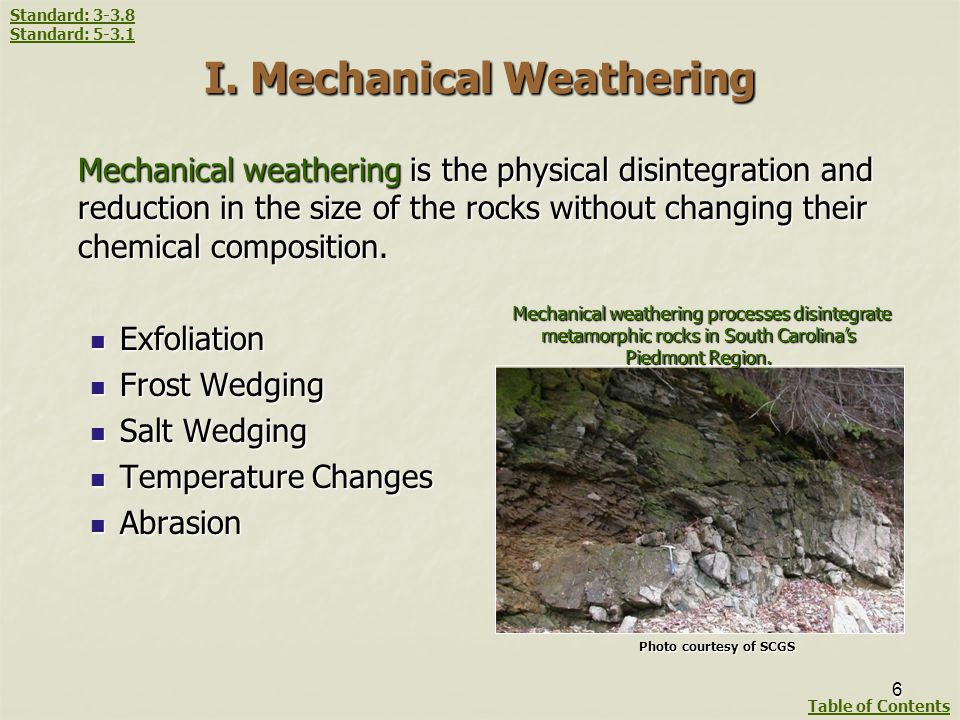 I. Mechanical Weathering