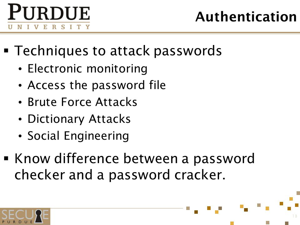 Techniques to attack passwords