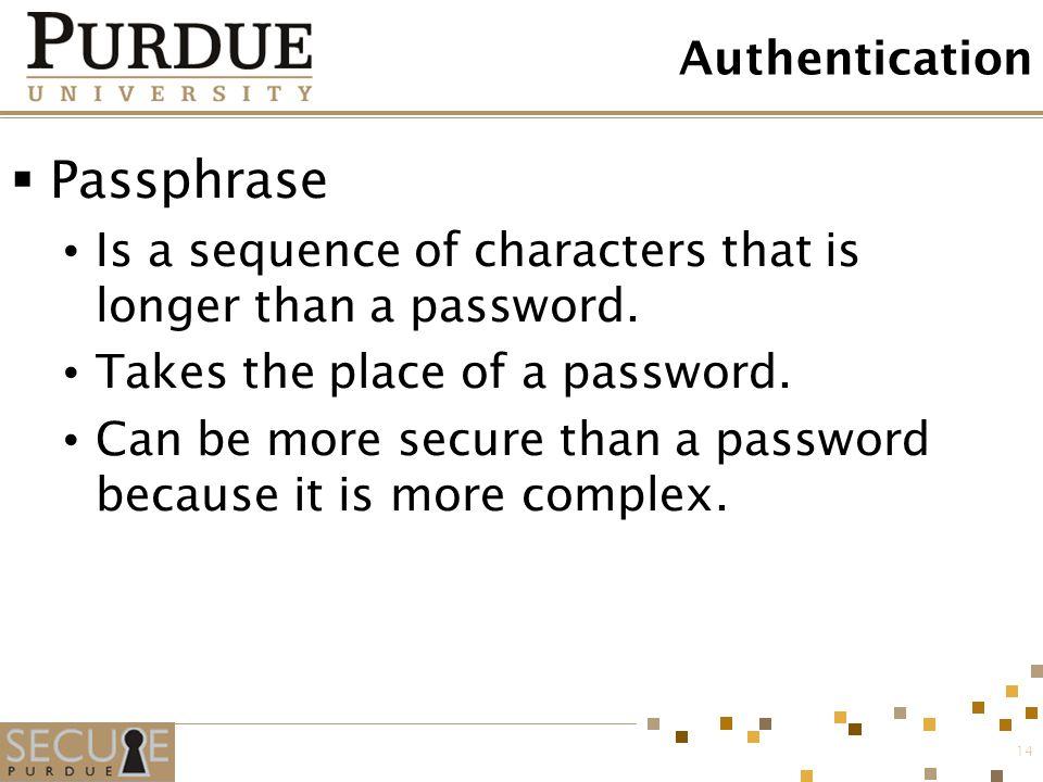 Passphrase Authentication
