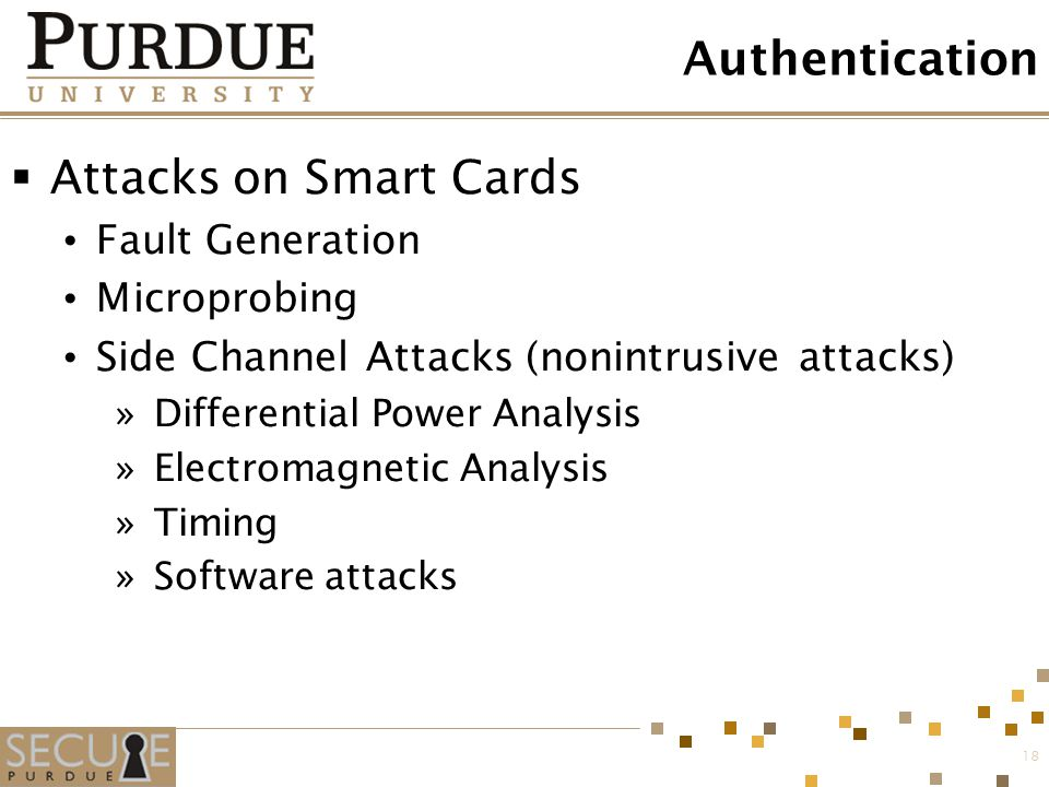 Authentication Attacks on Smart Cards Fault Generation Microprobing