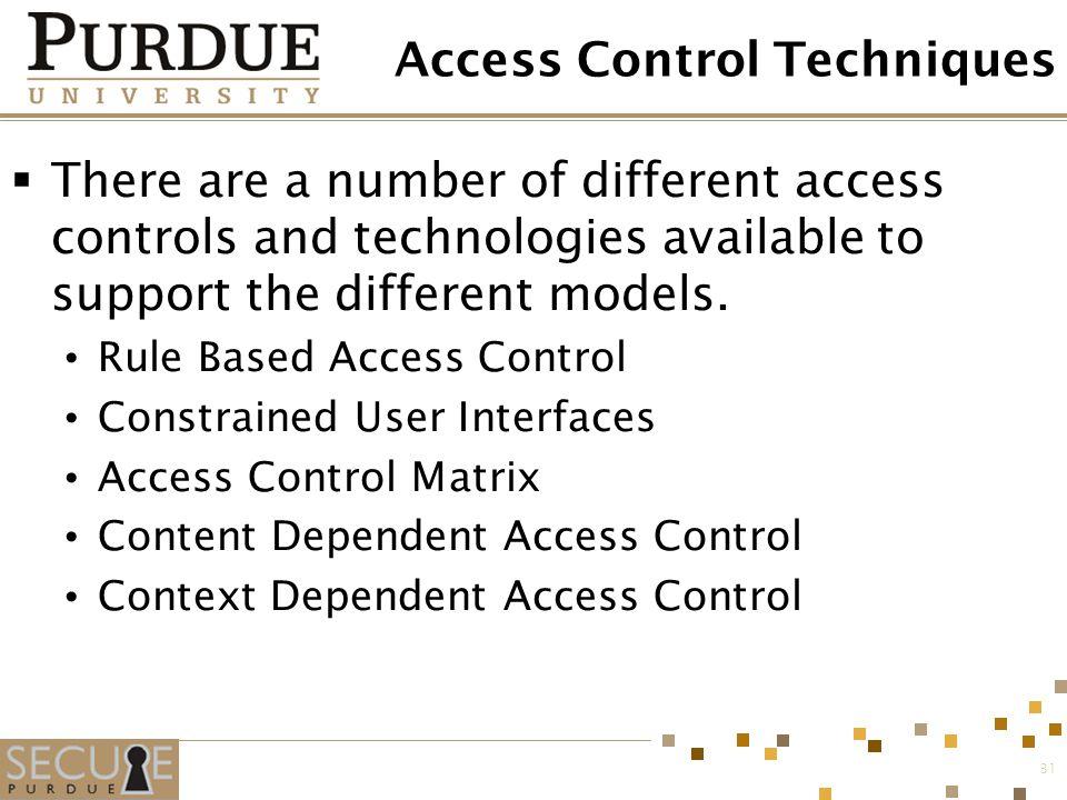 Access Control Techniques
