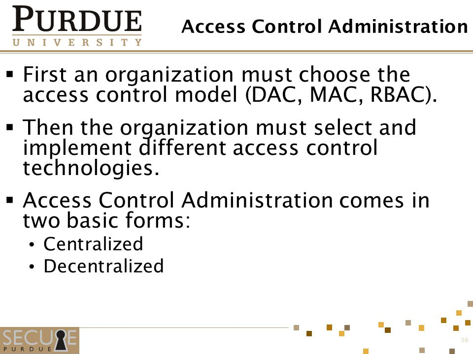 Access Control Administration