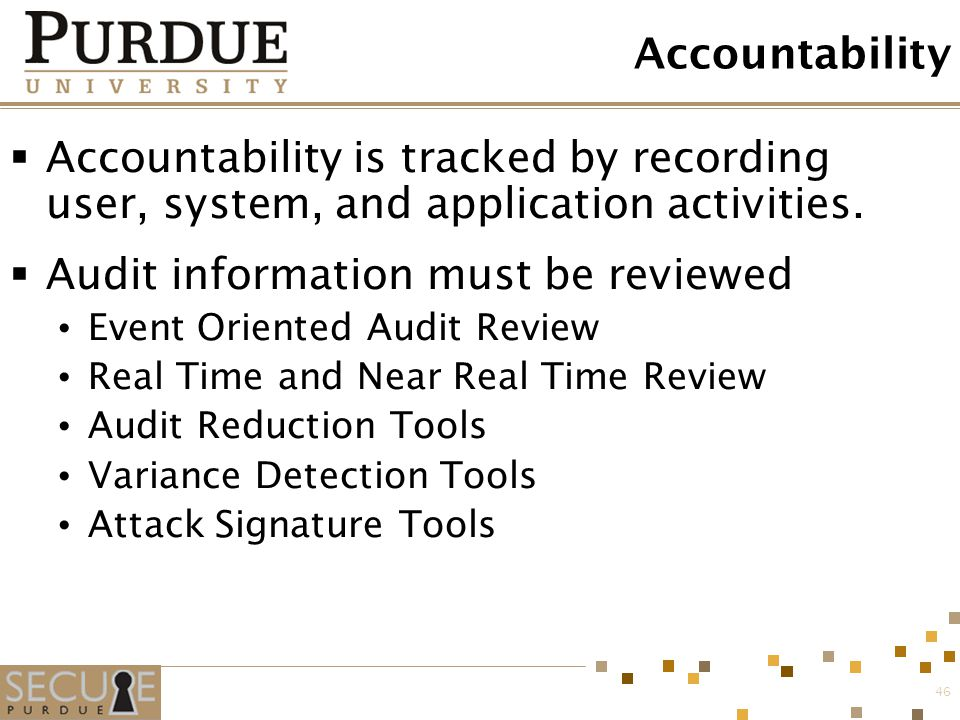 Audit information must be reviewed