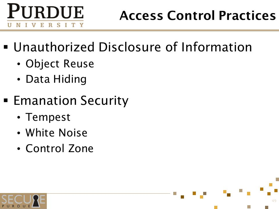 Access Control Practices