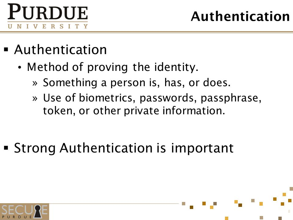 Strong Authentication is important