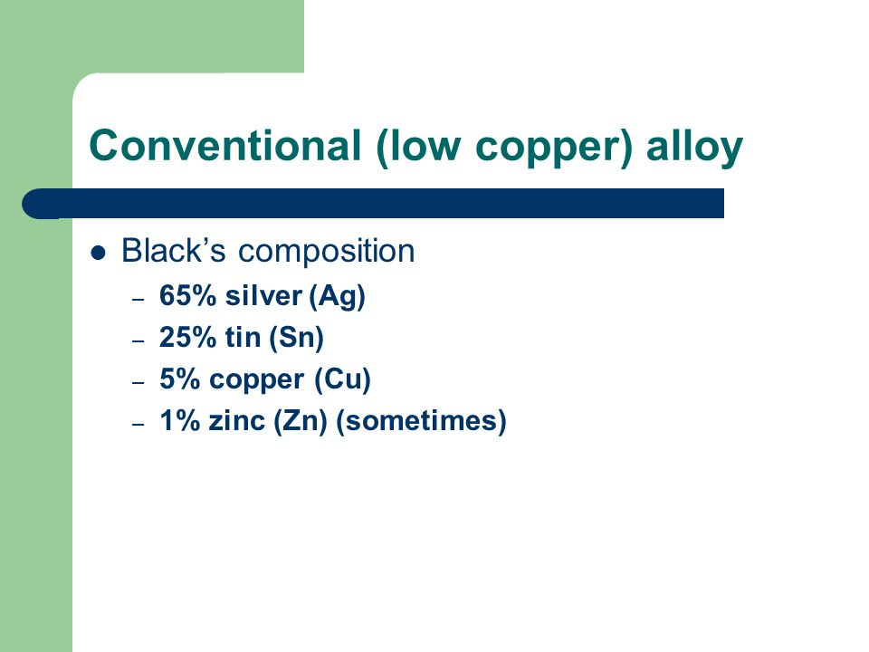Conventional (low copper) alloy