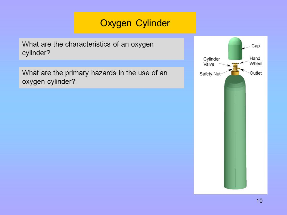 Oxygen Cylinder What are the characteristics of an oxygen cylinder