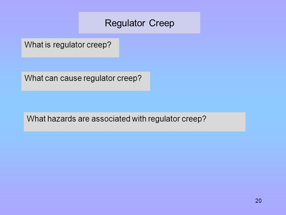 Regulator Creep What is regulator creep