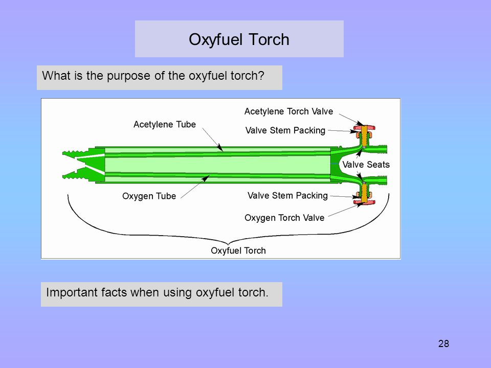 Oxyfuel Torch What is the purpose of the oxyfuel torch