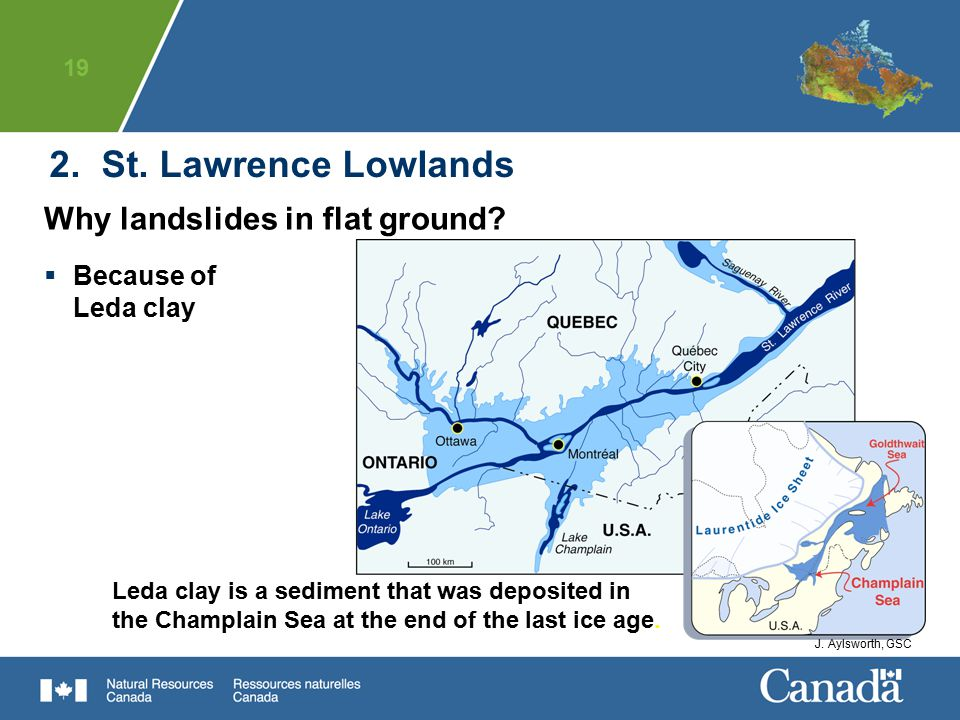 2. St. Lawrence Lowlands Why landslides in flat ground