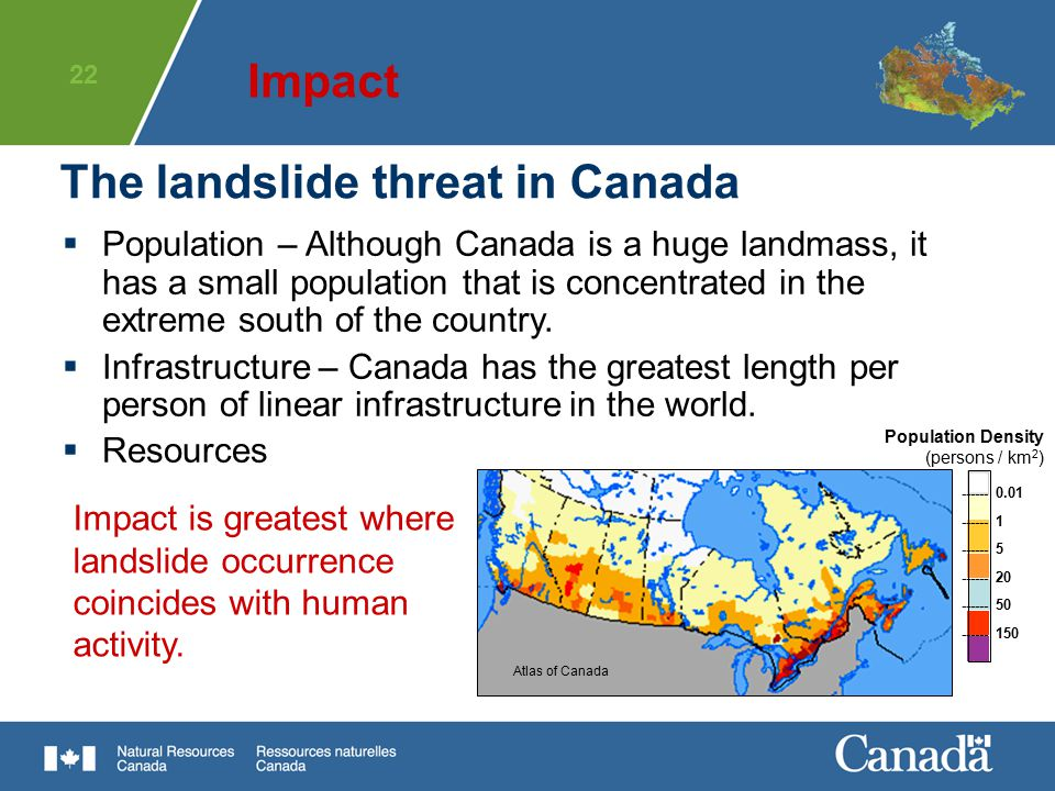 The landslide threat in Canada