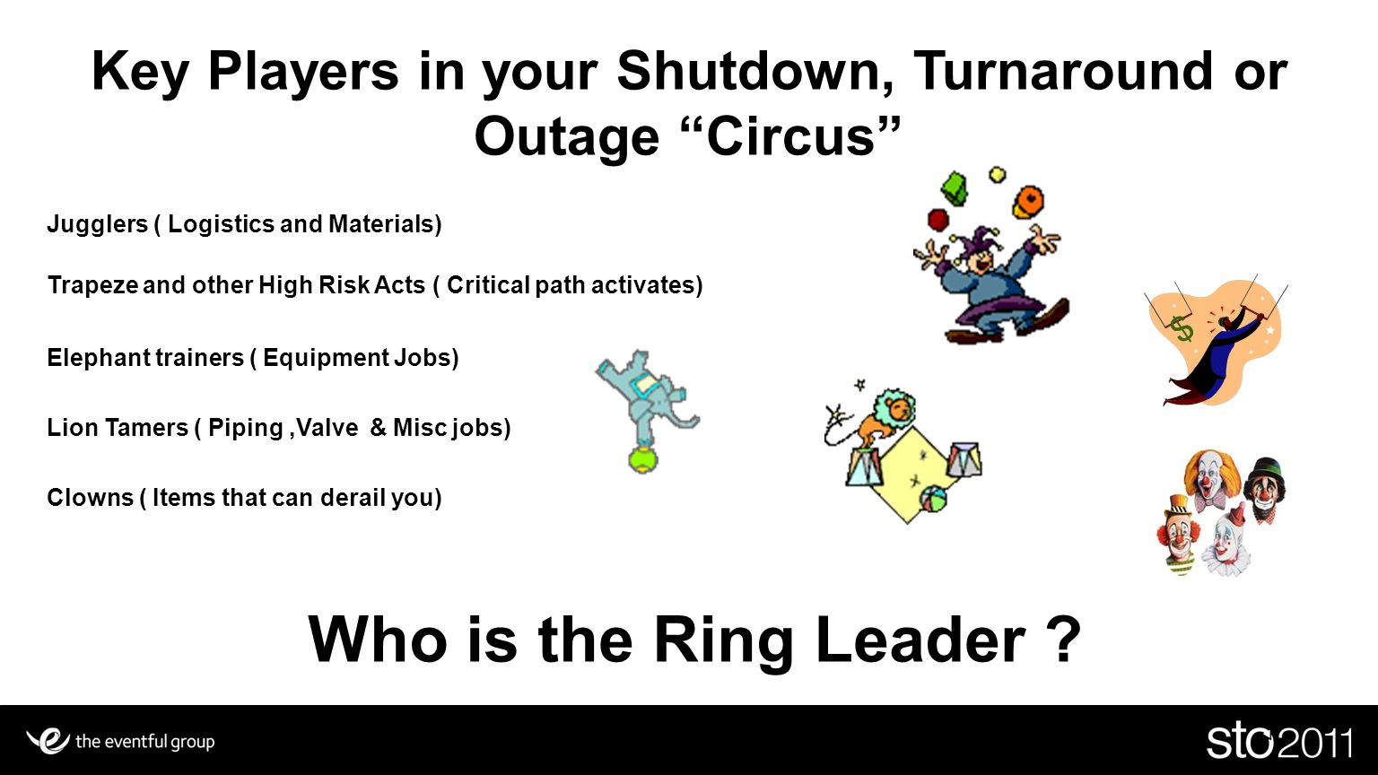 Key Players in your Shutdown, Turnaround or Outage Circus