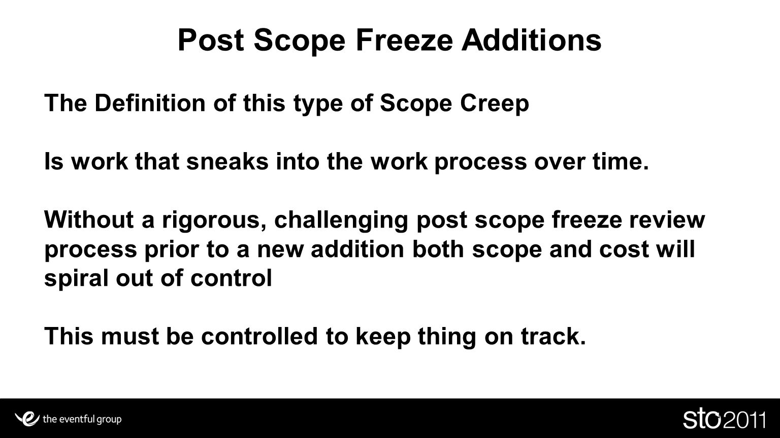 Post Scope Freeze Additions