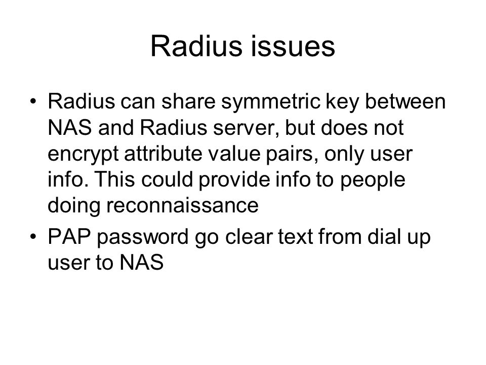 Radius issues