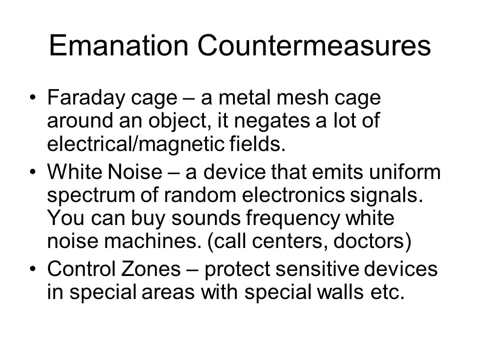 Emanation Countermeasures