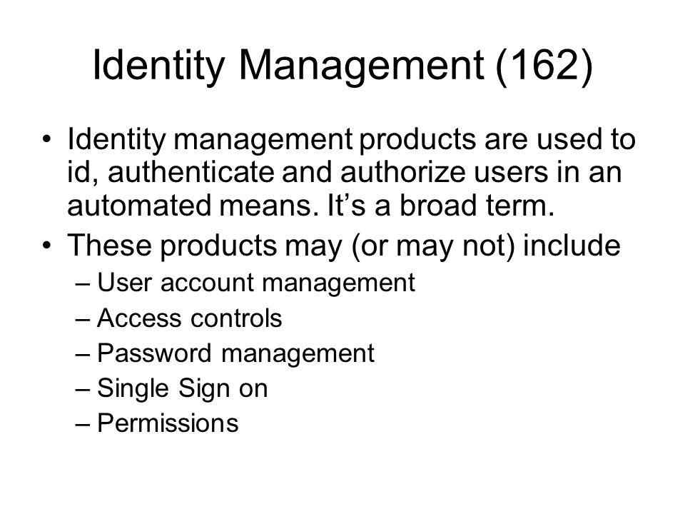 Identity Management (162)