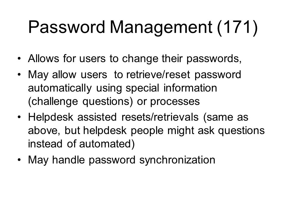 Password Management (171)