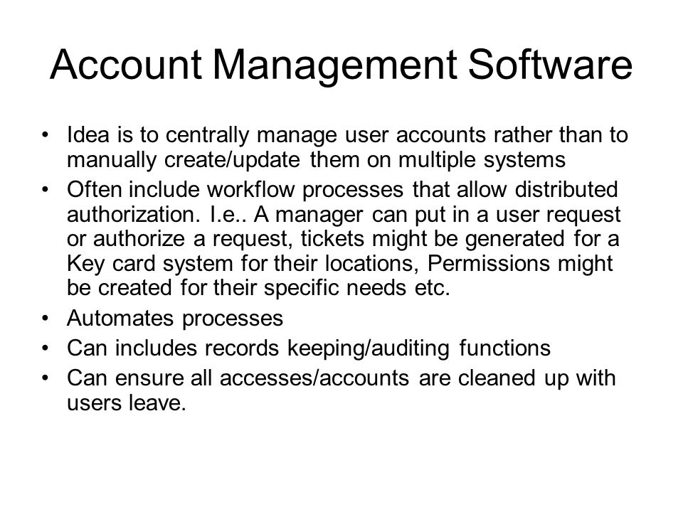 Account Management Software