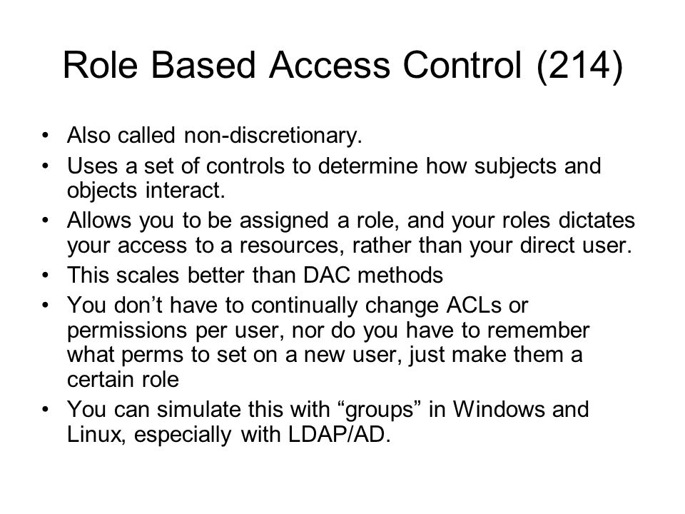 Role Based Access Control (214)