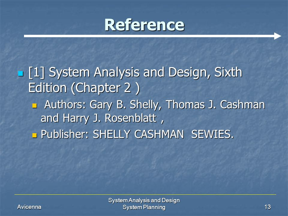 System Analysis and Design System Planning