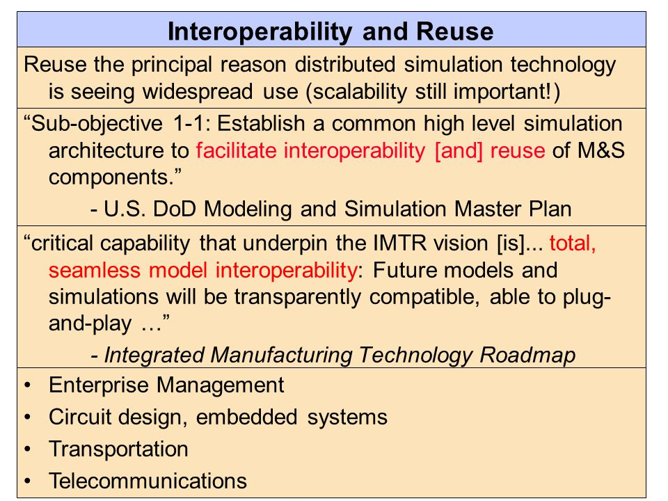 Interoperability and Reuse