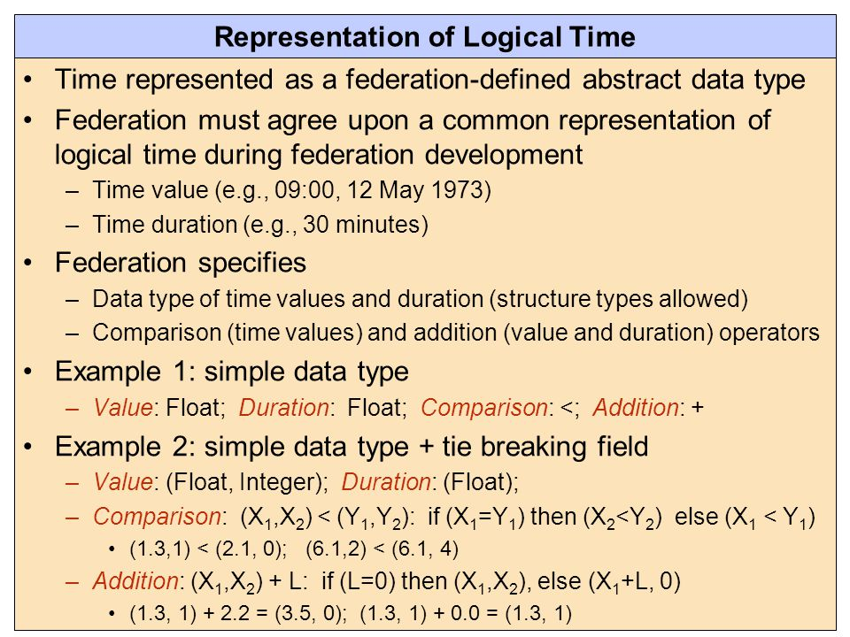 Representation of Logical Time