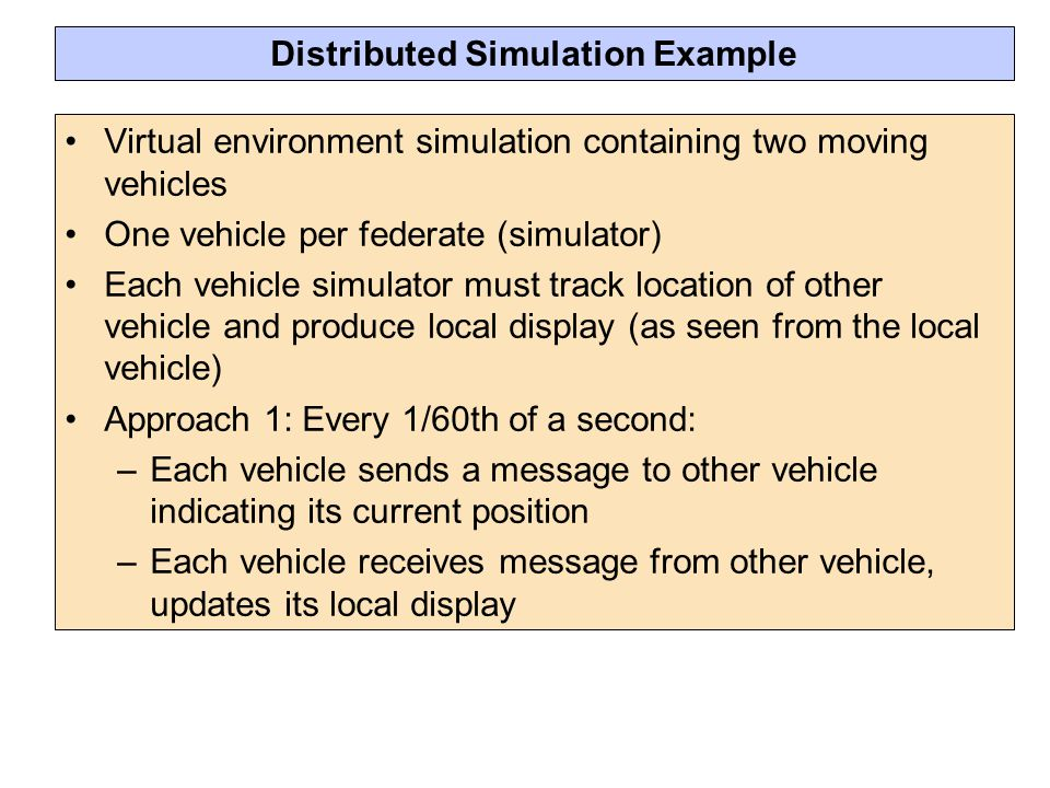 Distributed Simulation Example