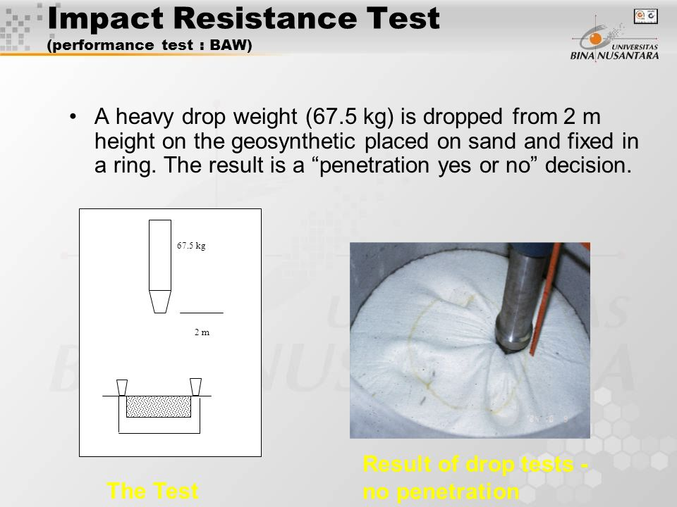 Impact Resistance Test (performance test : BAW)
