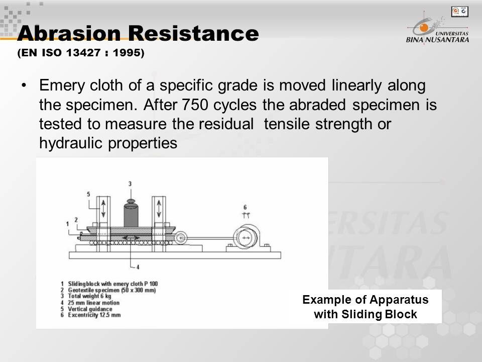 Abrasion Resistance (EN ISO 13427 : 1995)