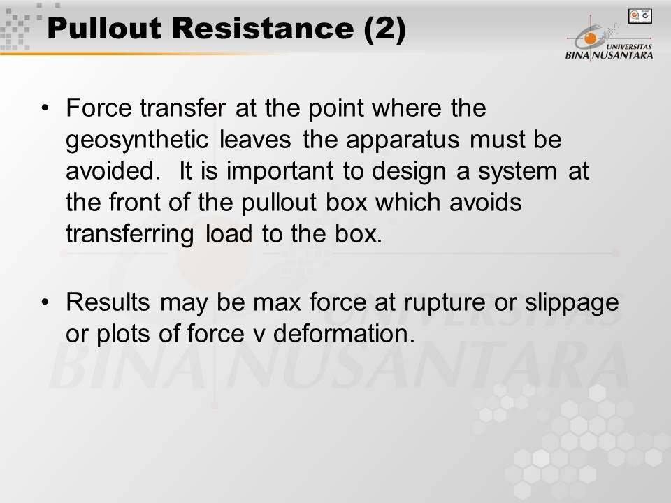 Pullout Resistance (2)